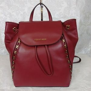 MK Sadie Leather Backpack Mulberry